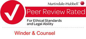 Winder and Counsel Recognized by Martindale-Hubbell for Ethical Standards and Legal Ability